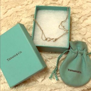 Tiffany &Co infinity necklace
